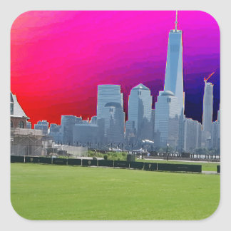 New York n Atalantic Beach Photography Navin Joshi Square Sticker