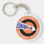 New York National Speedway Basic Round Button Keychain