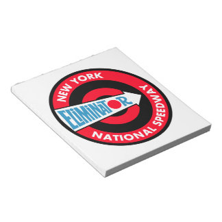 New York National Speedway sign notepad