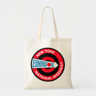 New York National Speedway Vintage sign Canvas Bags