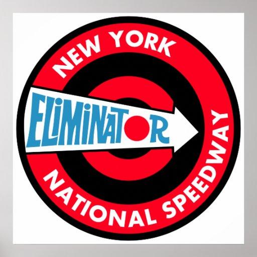 New York National Speedway Vintage sign Poster