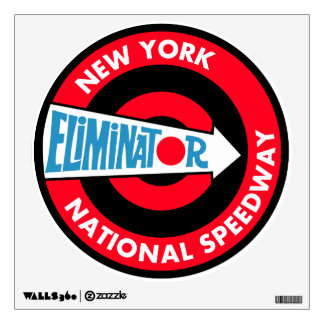 New York National Speedway vintage sign Wall Skin
