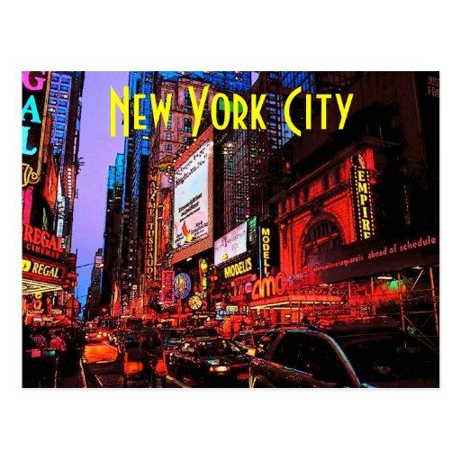 New York Neon Postcard