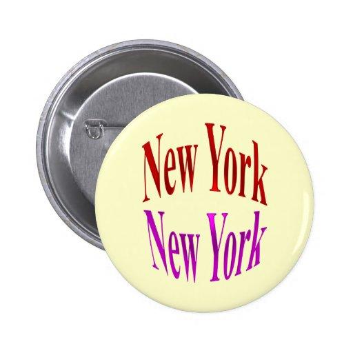 New York New York 2 Inch Round Button