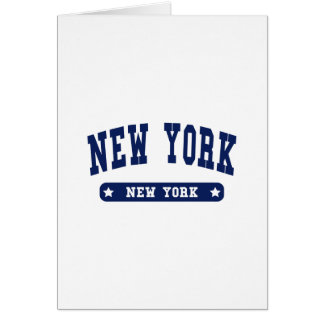 New York New York College Style tee shirts Greeting Cards