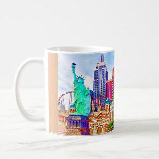 New York, New York In Las Vegas Watercolor Coffee Mug