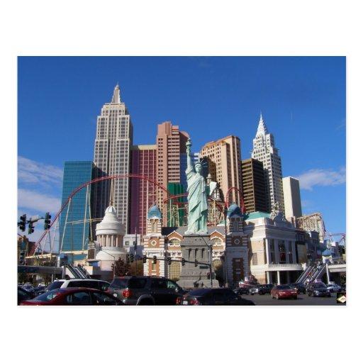 New York New York Las Vegas Picture Postcards