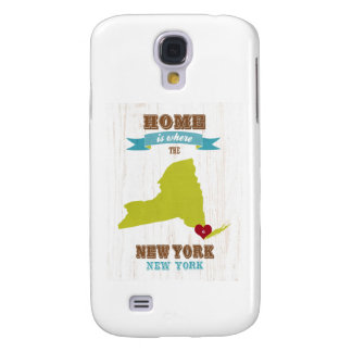 New York, New York Map – Home Is Where The Heart I Galaxy S4 Cover