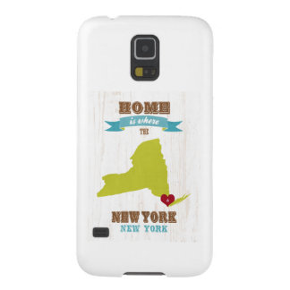 New York, New York Map – Home Is Where The Heart I Galaxy S5 Cover