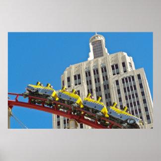 New York New York Roller Coaster Poster