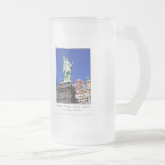 New York-New York S38 Frosted Glass Beer Mug