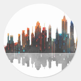 New York New York Skyline Classic Round Sticker