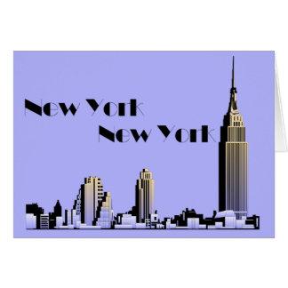 New York New York skyline retro 1930s style Card