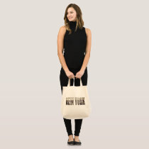 New York, New York (typography) Tote Bag
