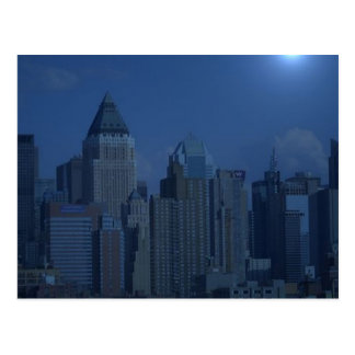 new york night blue post cards