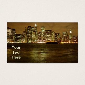 New York Night Business Card