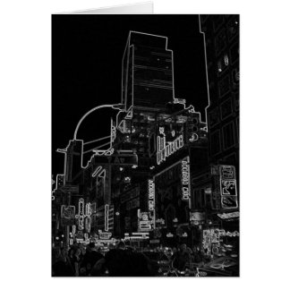 New York Night Image - CricketDiane NYC WalkAbout Card