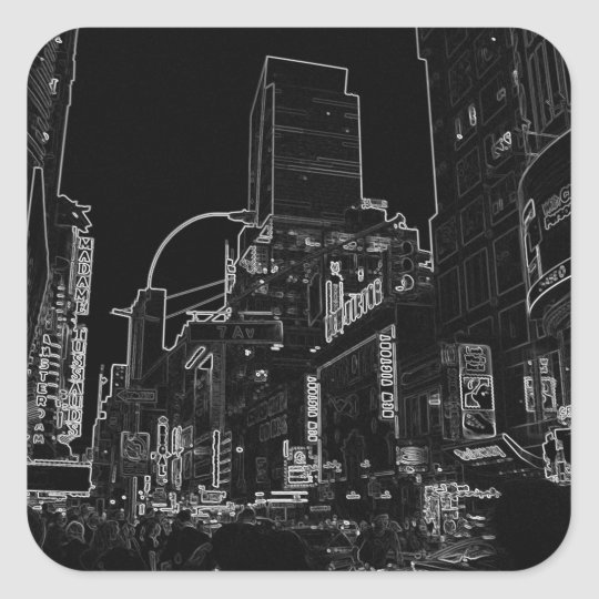 New York Night Image - CricketDiane NYC WalkAbout Square Sticker