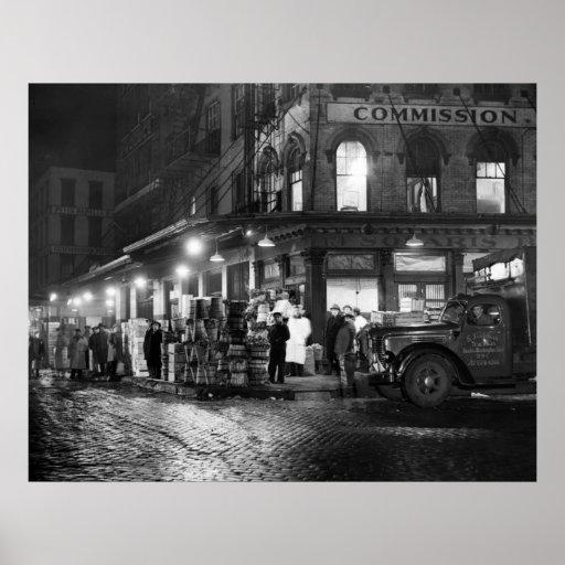 New York Night Life: 1952 Poster