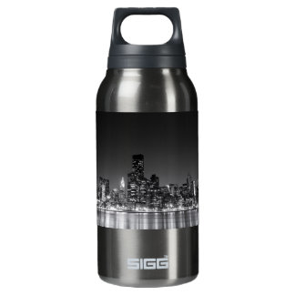 New York Night Skyline 10 Oz Insulated SIGG Thermos Water Bottle