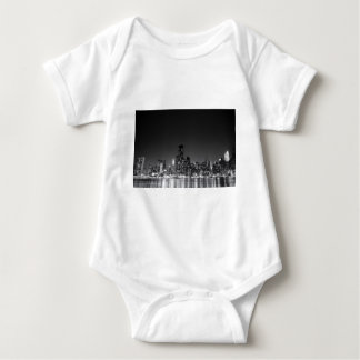 New York Night Skyline Baby Bodysuit