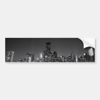 New York Night Skyline Bumper Sticker