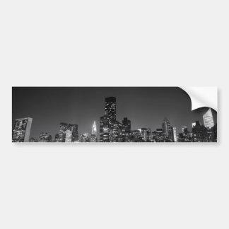 New York Night Skyline Car Bumper Sticker
