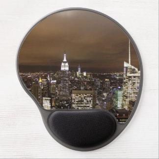 New York night skyline Gel Mouse Pad