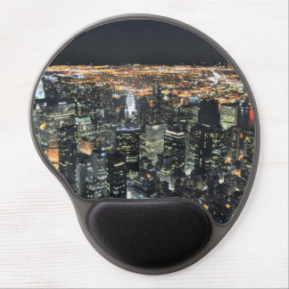 New York night skyline Gel Mousepad