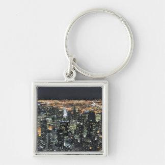 New York night skyline Keychain