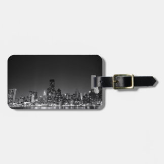 New York Night Skyline Tag For Bags
