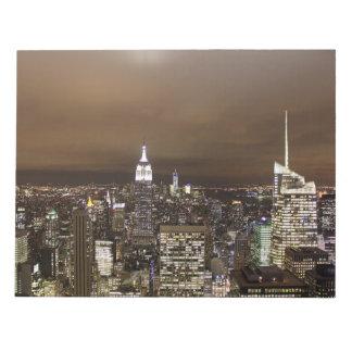 New York night skyline Note Pad