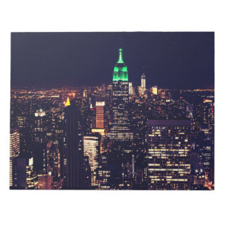 New York night skyline Notepad