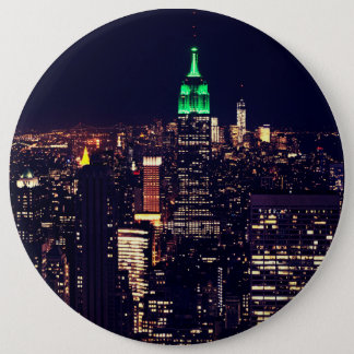 New York night skyline Pinback Button