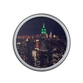 New York night skyline Speaker