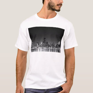 New York Night Skyline T-Shirt