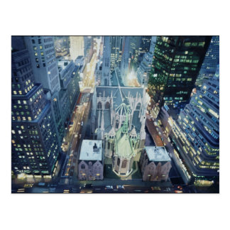 """New York Nightlights"" Watercolor Art Postcard"
