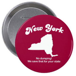 New York - No dumping T-shirt Pin