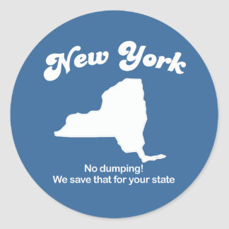 New York - No dumping T-shirt Classic Round Sticker