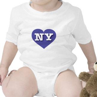 New York NY blue heart Bodysuit