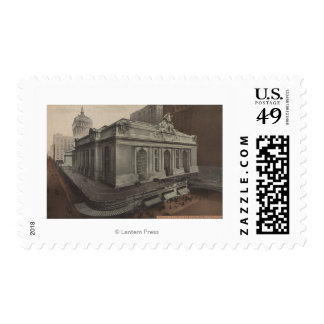 New York, NY - Grand Central Station View Postage Stamps