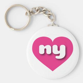 New York ny hot pink heart Keychains