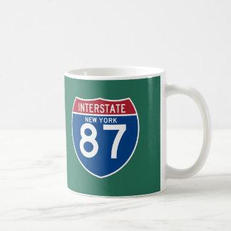 New York NY I-87 Interstate Highway Shield - Coffee Mug