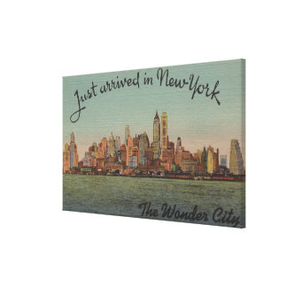 New York, NY - Just Arrived - The Wonderful City Canvas Print