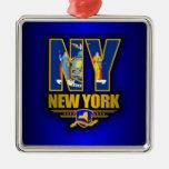 New York (NY) Metal Ornament