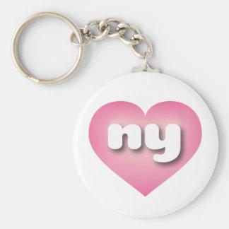 New York ny pink fade heart Key Chain