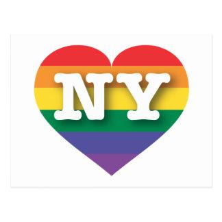 New York NY rainbow pride heart Postcards