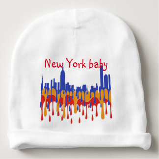 NEW YORK, NY SKYLINE  - GAUGAN BABY BEANIE