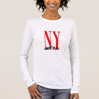 New York NY Skyline Logo Design Long Sleeve T-Shirt