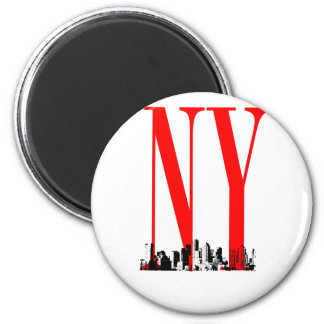New York NY Skyline Logo Design Magnet